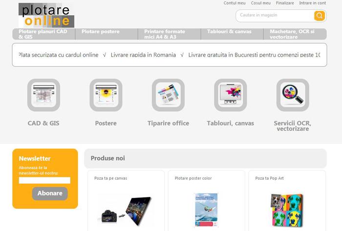 plotareonline.ro, Homepage