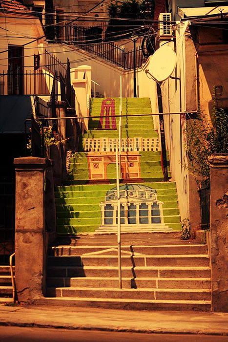 Scara pictata - Strada Xenofon - Bucuresti - Designist (2)