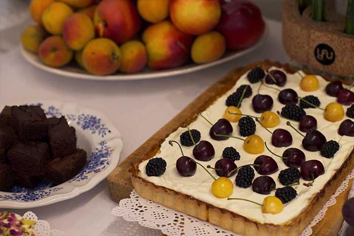 1.tarta cu lime, lapte condensat si cirese