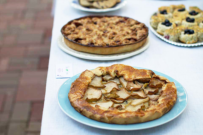 2.tarta cu pere, gorgonzola si sirop de artar