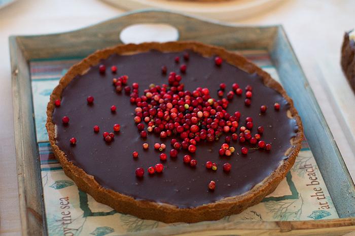 tarta cu ciocolata si merisoare