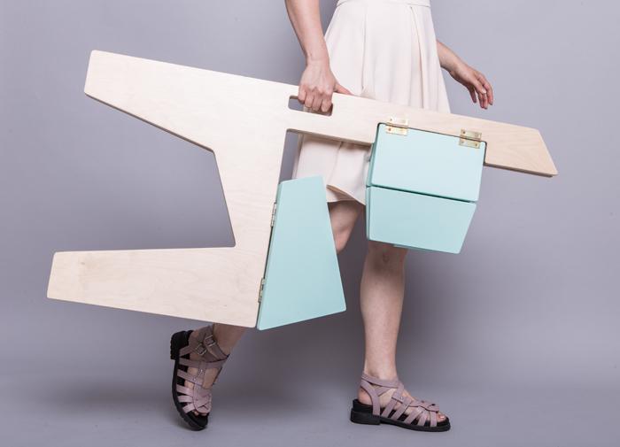 11Scaun pliabil lemn - Sorana Pintilie - Designist