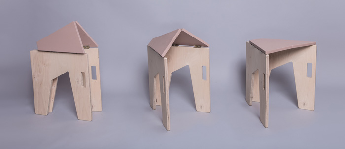2Scaun pliabil lemn - Sorana Pintilie - Designist