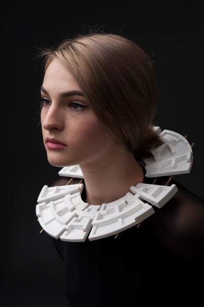 Andreia Popescu - FOUND.LOST.FOUND. Photo credits_ Alexandru Boghian. Make-up Ioana Covali. Model Irina Ursache