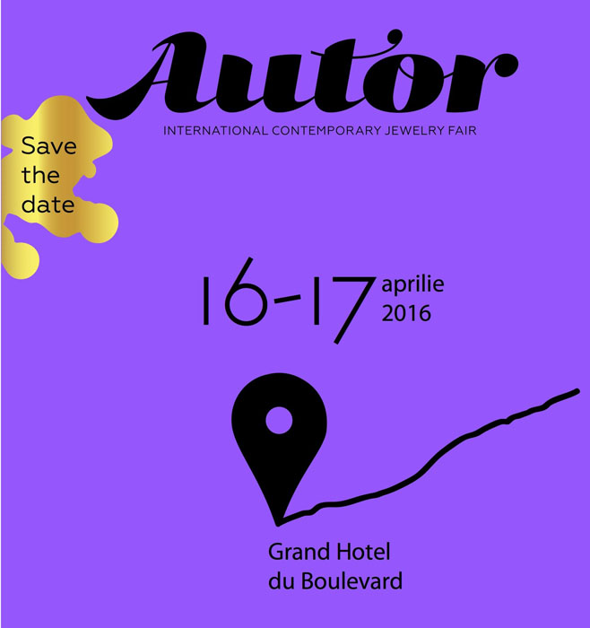 AUTOR 2016 Save the Date