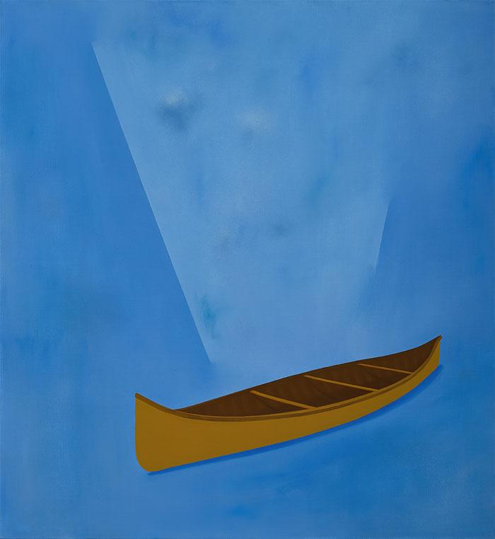Canoe in albastru 72