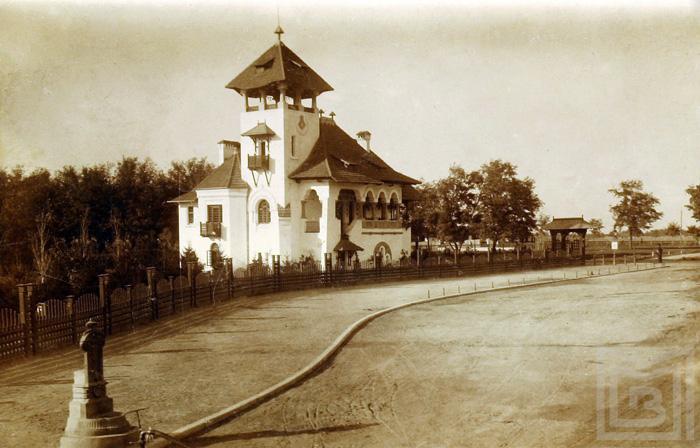 Perspectiva cu Vila dr. Nicolae Minovici dinspre Soseaua Banesii - anul 1912